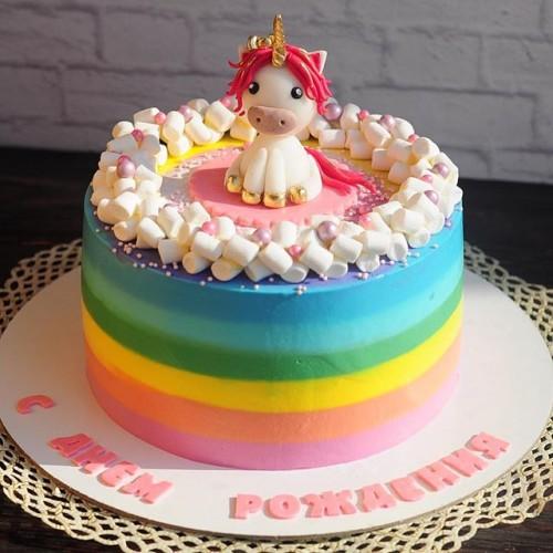 №68 Торт с единорожком