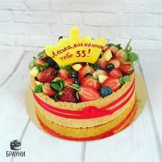 №300 Чизкейк с ягодами