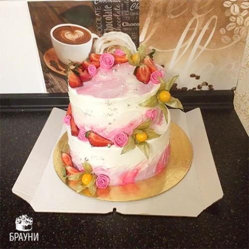 №329 Торт двухярусный
