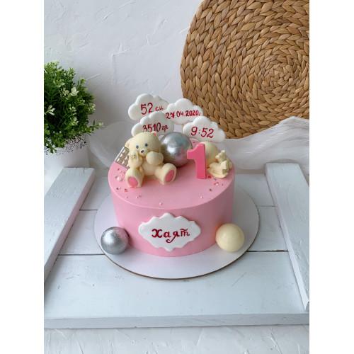 торт с шоколадным мишкой